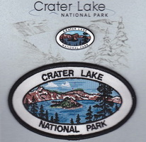 Crater Lake Lapel Pin and Patch Set